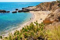 Albufeira coastline. Portugal