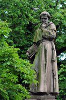 Sculpture of Berthold Schwarz, German Alchemist