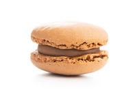 Sweet chocolate macaron