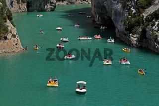 Lac de Sainte Croix, Provence, Frankreich