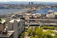 Aerial view Kobe Japan