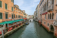 Scenic city view of Venice, Italy