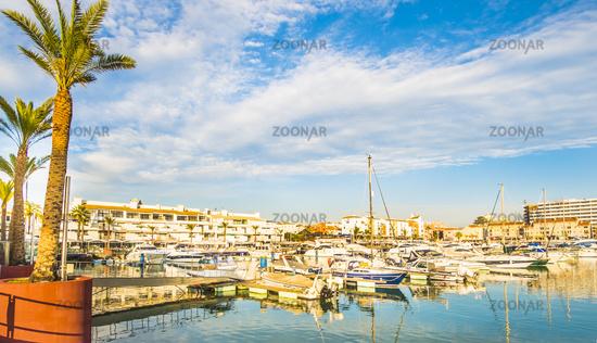 pleasure boats at vilamoura marina