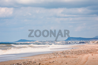 View over beach in Rethymno