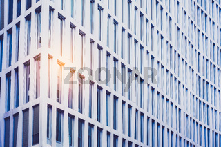 facade of corprate building in business district  -