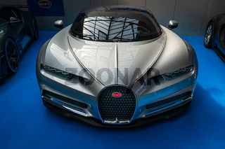 A sports car Bugatti Chiron, 2017.