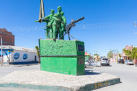 Bolivia Uyuni monument to the heroes of the war with Paraguay
