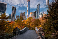 Fall foliage color of Central Park in Manhattan