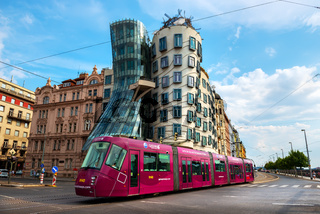 Dancing House and tram