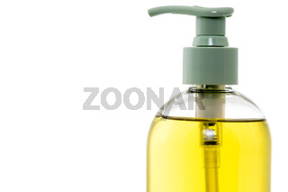 Pump style hand soap bottle