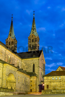 Illuminated cathedral of Bamberg