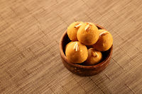Traditional Indian Sweet / Dessert - Round Balls made of Gram Flour