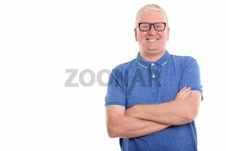 Studio shot of mature man