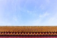 Roof top of Thai Marble Temple (Wat Benchamabophit Dusitvanaram) in Bangkok, Thailand