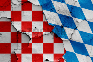 depiction of Croatian checkerboard flag and Bavaria flag