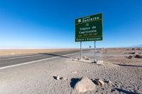 Chile Salar of Atacama line of the tropic