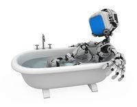 Blue Screen Robot, Bath