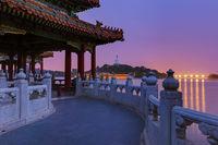 Sunset In the Beihai Park - Beijing China