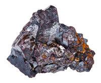 crystalline Cuprite stone isolated on white