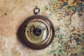 Vintage barometer in old house