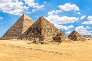 Pyramids of pharaos and queens