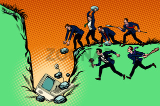 Savages businessmen kill computer. Internet censorship and polit