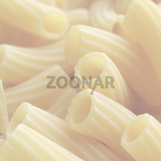 Pasta picture, soft faded tone background