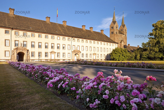 Corvey, UNESCO World Heritage Site, Hoexter, Weser Uplands, East Westphalia, Germany, Europe