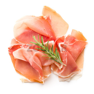 Italian prosciutto crudo or jamon.