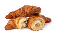 fresh croissant on white