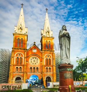 Notre-Dame Cathedral Basilica of Saigon. Vetnam