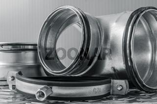 Parts of ventilation installation, close-up