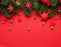 Traditional Christmas background in red