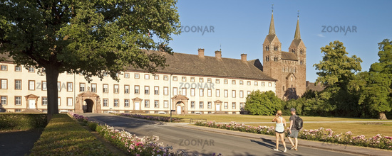 Corvey, UNESCO World Heritage Site, Hoexter, Weser Uplands, East Westphalia, Germany, Europe