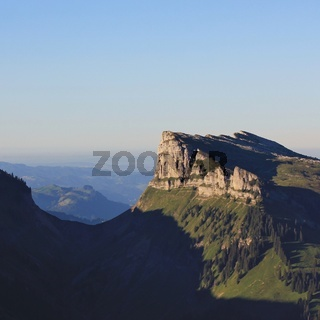 Schibe, mountain seen from Mount Niederhorn, Bernese Oberland. Switzerland.