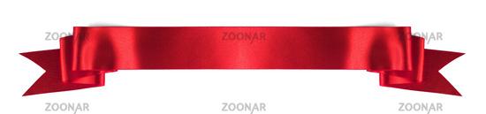 Satin ribbon banner on white