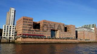 Umgebaute Speicherhäuser an der Elbe, Hamburg