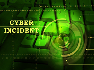 Cyber Incident Data Attack Alert 3d Illustration