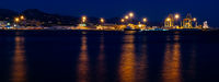 harbor lights at night