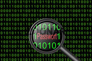Binärcode mit dem Wort Passwort
