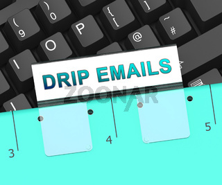 Email Drip Marketing Newsletter Outreach 3d Rendering