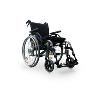Empty wheelchair isolated on white background. Disability