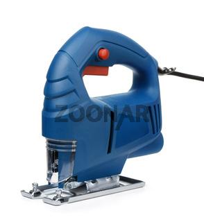 Blue electric jig saw