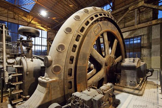Gas Blower Machine in the Blower Hall, Industrial Museum Heinrichshuette, Hattingen, Germany, Europe