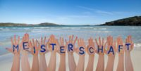 Many Hands Building Meisterschaft Means Championship, Beach And Ocean