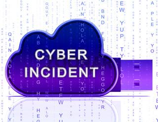 Cyber Incident Data Attack Alert 3d Rendering