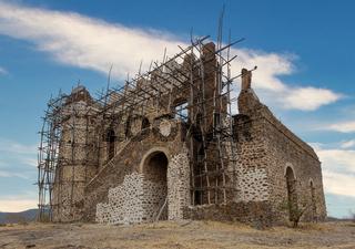 ruins of Guzara royal palace, Ethiopia Africa