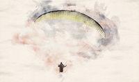Watercolor Paragliding