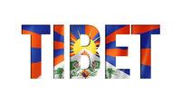 tibetan flag text font