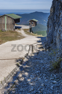 Weather station on Tegelberg with concrete path